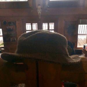L.L. Bean Harris Tweed Gore-Tex fedora.